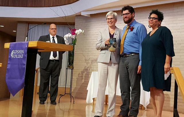 Alumni award at Goshen College